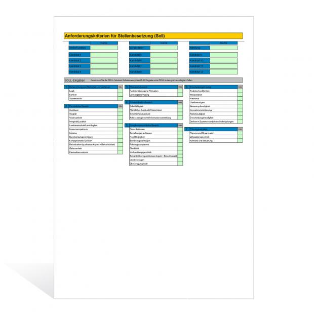 Excel-Assistent Stellenbesetzung