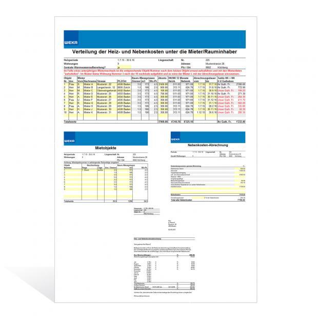 Rechner Heiz- und Nebenkostenabrechnung
