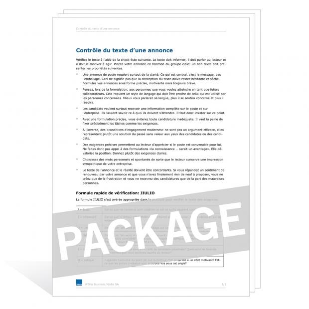 Téléchargement package Obligations de l'employé