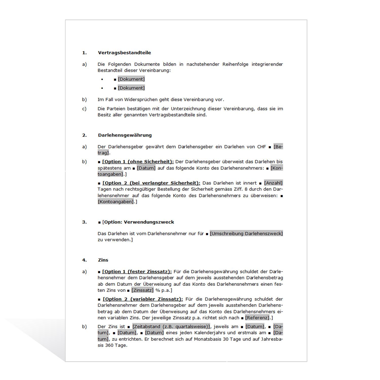 Schön Musterkreditvertrag Vorlage Fotos - Entry Level Resume ...