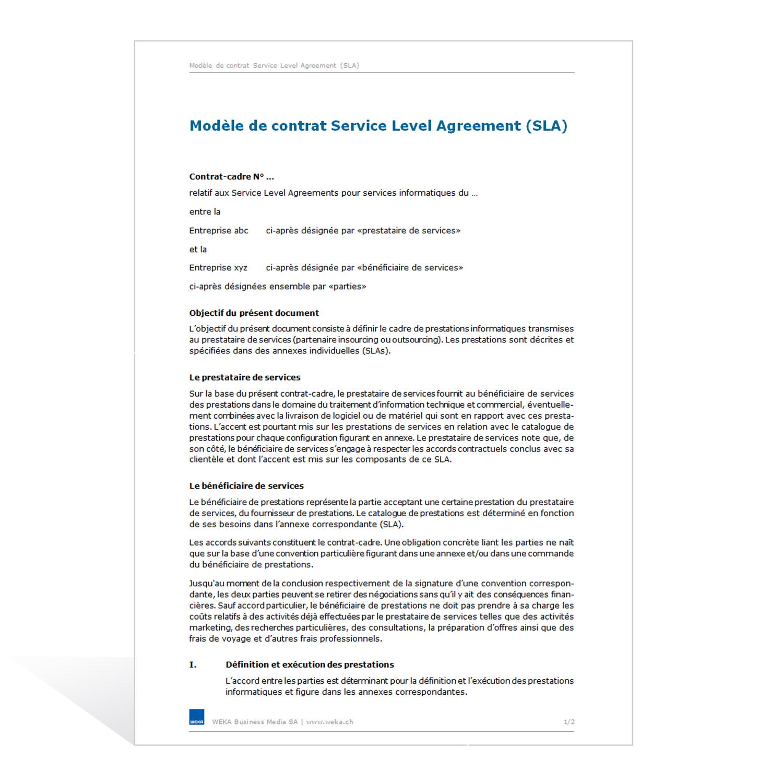 Contrat Service Level Agreement (SLA)