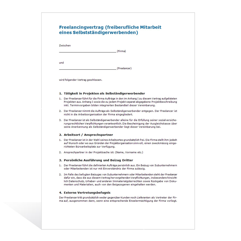 muster freelancingvertrag - Lizenzvertrag Muster